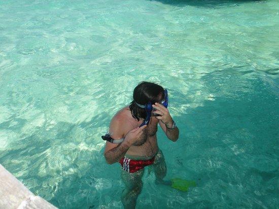 Le Taha'a Island Resort & Spa : Deck do Quarto