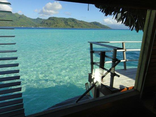 Le Taha'a Island Resort & Spa : Vista da janela do quarto