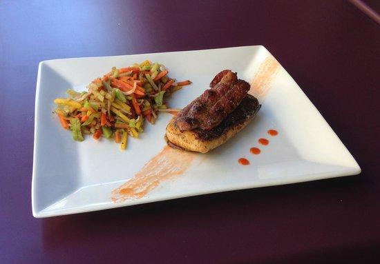 Café Gecko : Dos de cabillaud et son lard grillé