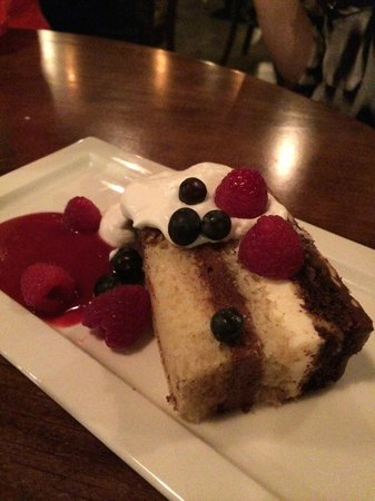 Aji Japanese Bistro : Even dessert at Aji is fab...Boston Cream Cake...love it!
