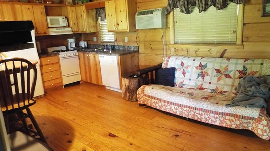 Cabins of Asheville : Kitchen, dining and living areas