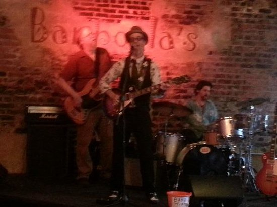 Another shot of the band at Bamboula's