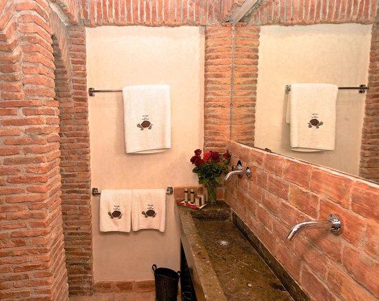 Manzil La Tortue : La salle de bain d'une chambre