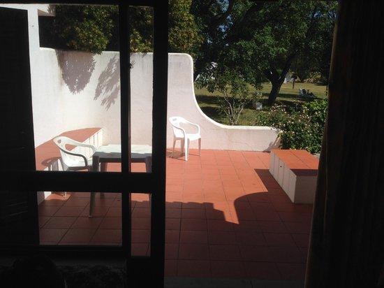 Vilanova Resort: uitzicht op het terras van de bungalow