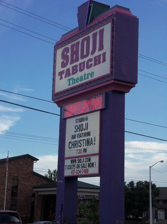 Shoji Tabuchi Theater: The sign