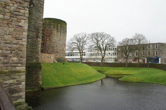 Rothesay Castle: Castle moat
