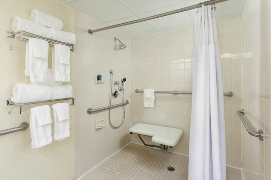 Crowne Plaza Hotel Englewood : Bathroom with Roll in Shower