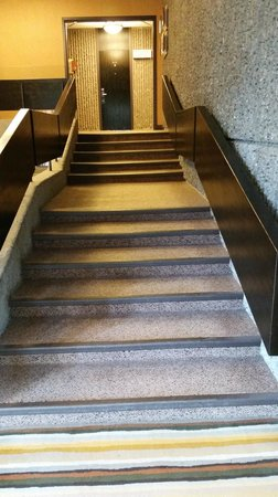 Hotel Bonaventure Montreal : Stairs to rooms (hope you packed lightly)
