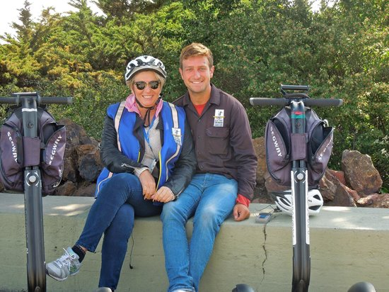 Electric Tour Company Segway Tours : With guide at photo stop