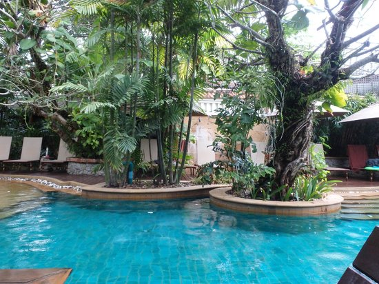 The Baray Villa: View from pool