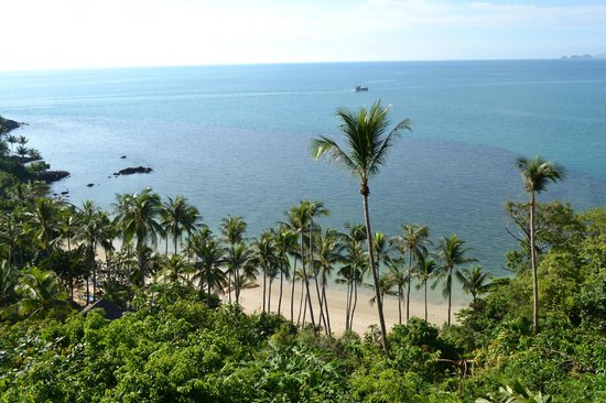 Four Seasons Resort Koh Samui Thailand : View of the private beach from our terrace
