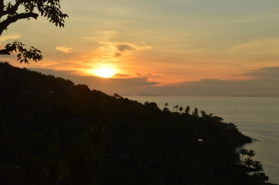 Four Seasons Resort Koh Samui Thailand : View at sunset from our villa