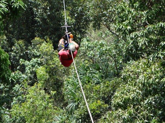 Koloa Zipline: Fred rescuing someone - amazing!