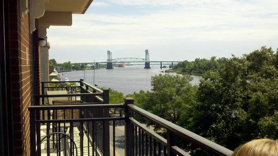 Riverview Suites: view up the river