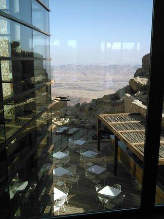 Beresheet Hotel by Isrotel Exclusive Collection: נוף מאחת מפינות הלובי לכיוון מכתש רמון