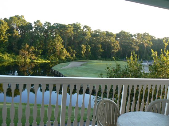 Disney's Old Key West Resort: Golf course and waterway from room