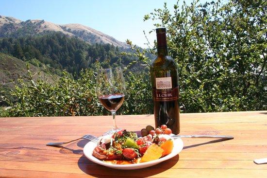 Nepenthe : Le repas et le vin