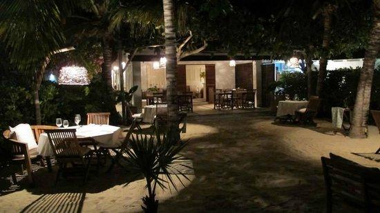 Posada Caracol: Cena en la playa