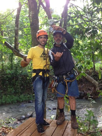 Rain Forest Zipline Corp. : With our instructor.