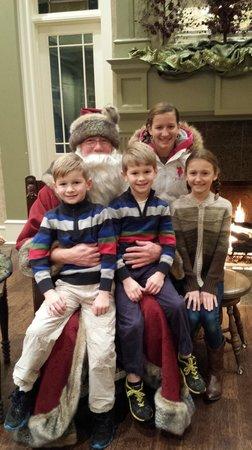 Huntsville, AL: Kris Kringle loves his Candlelight Christmas visitors!