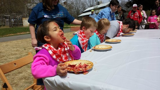 Burritt on the Mountain : This young lady won our pie eating contest!