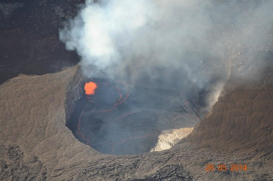 Waikoloa Beach Marriott Resort & Spa: the crater floor from helicopter