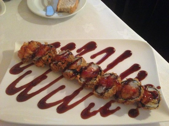 Restaurante Medit: Hot philadelphia roll