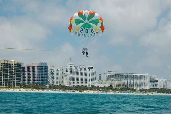 South Beach Parasail Miami Parasailing Great View Of