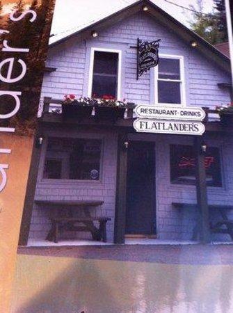 Flatlanders : Front of menu