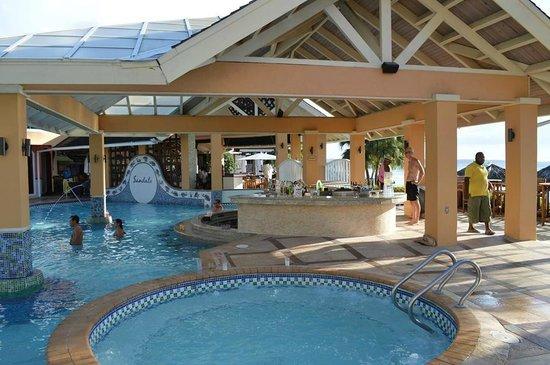 Preferred Pool/Hot Tub/Bar - Picture of Sandals Negril Beach Resort & Spa  MC59