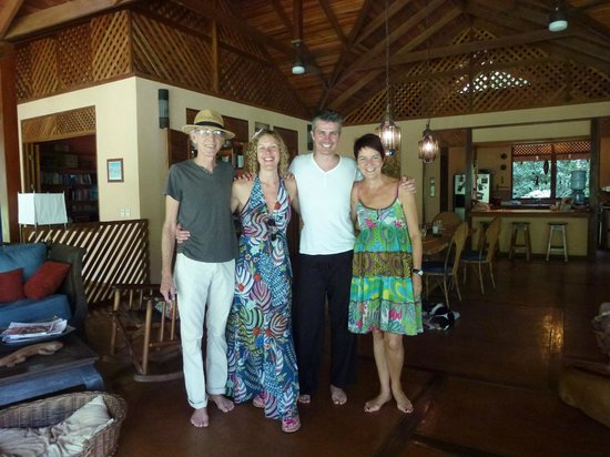Geckoes Lodge: Us, with Tom and Zoe