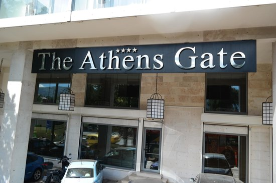 The Athens Gate Hotel: front of hotel