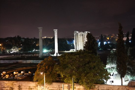 The Athens Gate Hotel: View from room of temple of zeus