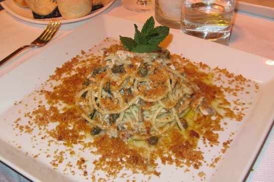 Per Bacco: Pasta with Anchovies and Breadcrumbs