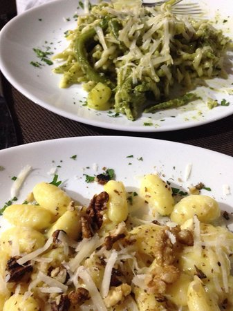 Le Terre Del Sud : Gnocchi with walnuts and pesto pasta