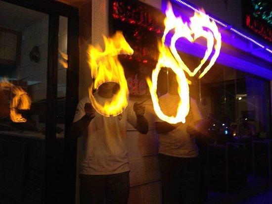 Royal Asarlik Beach : Fire 60 for Maria's birthday