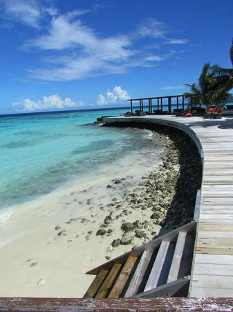 Dhevanafushi Maldives Luxury Resort Managed by AccorHotels: View from the deck.
