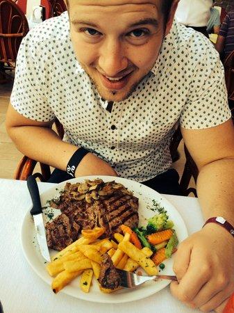 Samdan Restaurant : The first of 5 T-Bone steaks my boyfriend had at samdan during our stay