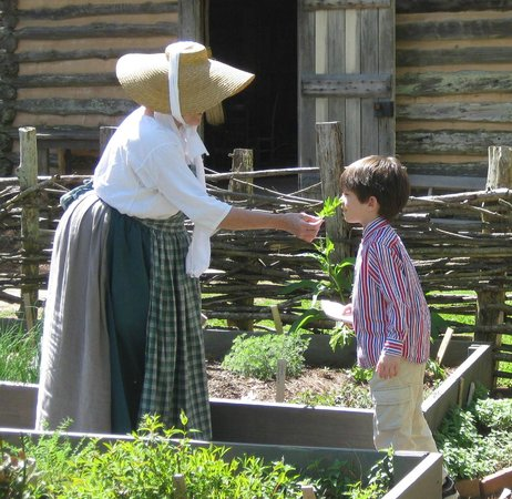 Burritt on the Mountain : Smell and taste our herbs from the garden.