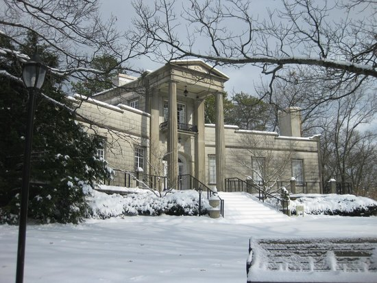 Burritt on the Mountain: The mansion on a wintery day.