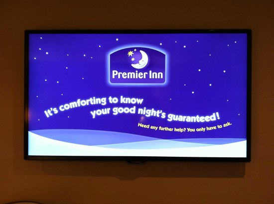 Premier Inn Exeter (M5 J29) Hotel: Welcome from the tv