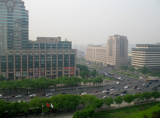 Beijing view from our room 1224 at Beijing International Hotel