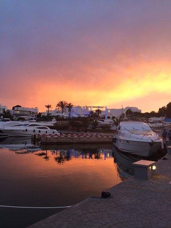 Yacht Club Cala d'Or : Beautiful sunset behind the yacht club