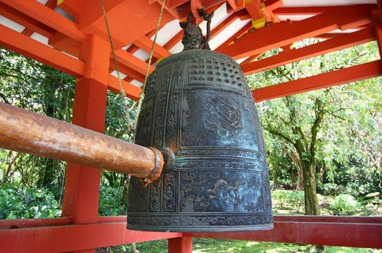 Byodo-In Temple: Break the silence before you leave.