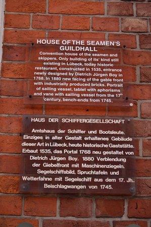 Schiffergesellschaft: resrtaurant history