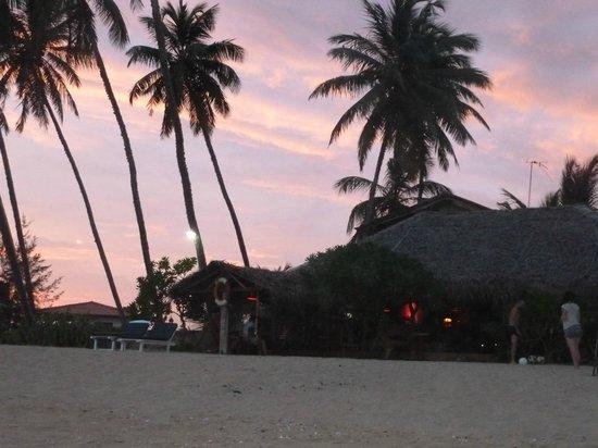 Ganesh Garden Beach Cabanas: пляж