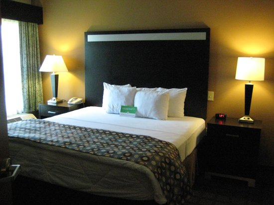 Bedroom Two Room King Suite Picture Of La Quinta Inn Suites Indianapolis Ap Plainfield