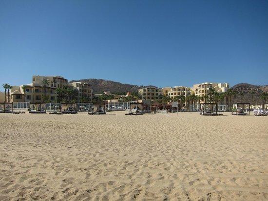 Pueblo Bonito Pacifica Golf & Spa Resort: The resort from the beach