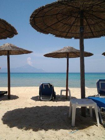 Hotel Pontos: Strandbereich