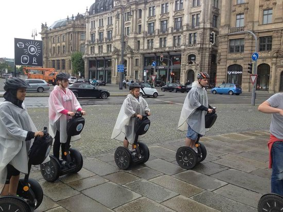City Segway Tours Munich: Lined up and Ready to go!